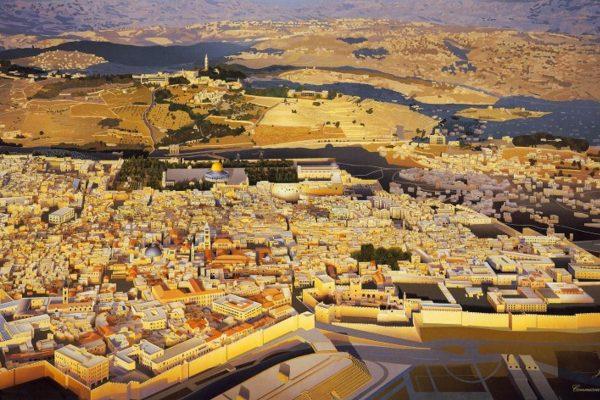 Panorama of Jerusalem – the holy city that unites the three Abrahamic religions